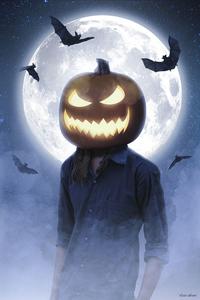 Halloween Mask Boy 4k