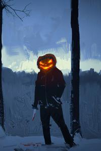 1080x2280 Halloween Mask Men