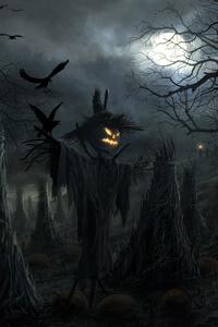 640x1136 Halloween Scarecrow