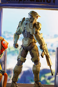 1280x2120 Halo Chief Fortnite