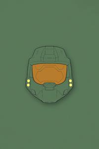 320x480 Halo Master Chief Minimal 4k