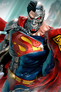320x568 Hank Henshaw Cyborg Superman