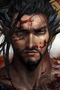 1080x1920 Hanzo Overwatch Art 4k