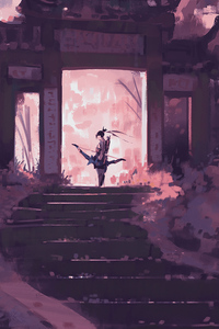 640x960 Hanzo Overwatch Artistic Art