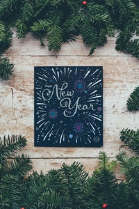 1440x2960 Happy New Year