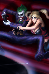 Harley And Joker Playing Games