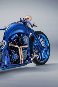 1440x2560 Harley Davidson Blue Edition