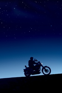 240x400 Harley Davidson Dark Evening 10k