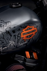 1440x2560 Harley Davidson Grey Black Bike Tank 8k
