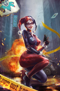 Harley In City