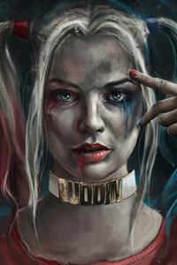 1242x2688 Harley Quinn 2020 Art