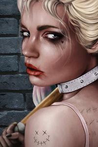 1242x2688 Harley Quinn 4k 5k