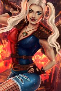 320x480 Harley Quinn 4k New Artworks