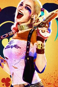 1080x2160 Harley Quinn 8k Key Art