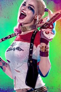 1242x2688 Harley Quinn 8k