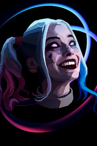 1242x2688 Harley Quinn Abstract Art