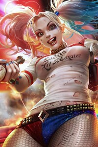 Harley Quinn Amazing Art