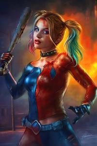 720x1280 Harley Quinn Art 2020