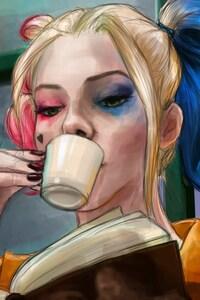 1125x2436 Harley Quinn Art
