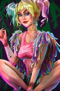 480x800 Harley Quinn Art New