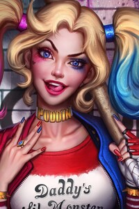 1125x2436 Harley Quinn Artwork 2