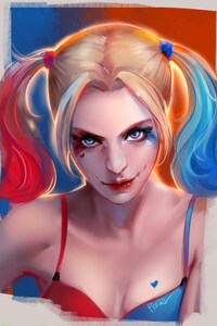 1080x1920 Harley Quinn Artwork