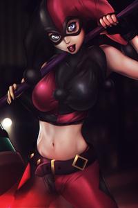 1440x2560 Harley Quinn Assault On Arkham Asylum