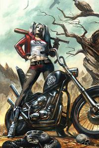 Harley Quinn Bike 4k