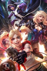 Harley Quinn Closeup Art