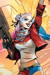 Harley Quinn Comic Art