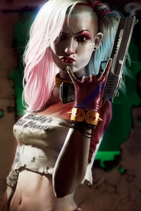 Harley Quinn Cool Gun Art