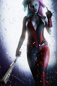 320x568 Harley Quinn Crazy
