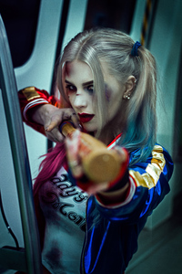 1440x2560 Harley Quinn Daddy Little Monster