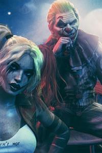1440x2960 Harley Quinn Joker And Batman 4k