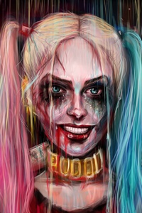 1280x2120 Harley Quinn Joker Painting Artwork 4k 5k