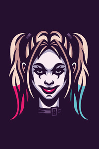 320x480 Harley Quinn Minimal Art 4k