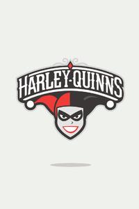 320x480 Harley Quinn Minimal Logo 4k