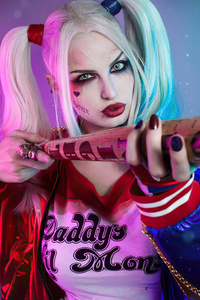 1080x2160 Harley Quinn Newcosplay