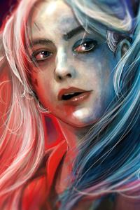 Harley Quinn Paint Art
