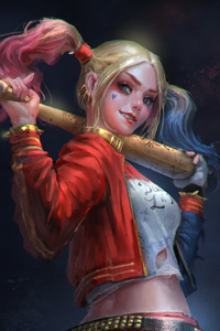 Harley Quinn Sketch Art