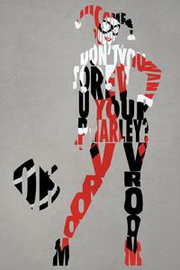 Harley Quinn Typography 4k