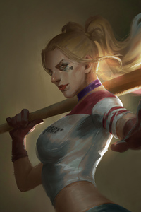 1080x1920 Harley Quinn4k New Artwork