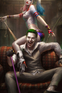 2160x3840 Harley With Joker