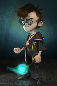 320x568 Harry Potter 3d Character Art 4k