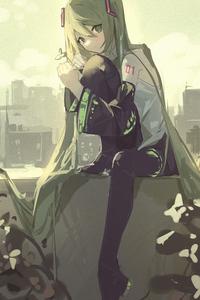 240x320 Hatsune Miku Anime Art 5k