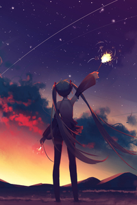 1080x2280 Hatsune Miku Anime Vocaloid Girl
