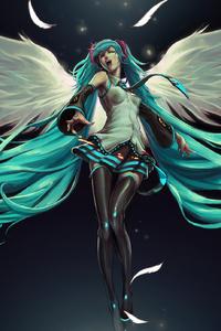 1080x1920 Hatsune Miku Anime Wings