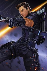 750x1334 Hawkeye 4k Art