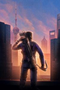 Hawkeye Avengers Endgame Chinese Poster