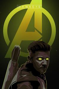 720x1280 Hawkeye Avengers Endgame